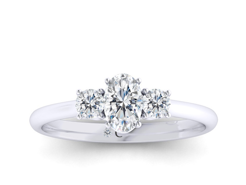 Vintage Style 1.00 ct Round Cut D//VVS1 Diamond Sterling Silver Engagement Ring